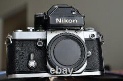 Nikon F 2 camera body with a lens and new batteries