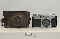 Nikon M with Nikkor-H 50mm F2 Tokyo Lens, Cap, Case Rangefinder Film Camera