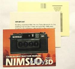 Nimslo 3D Quadra Lens 35mm Camera lenticular & Batteries, Box Tested ELNC MOD V3