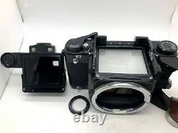 Nr MINTPentax 67 TTL MLU Late Model 6x7 + T 105mm f2.4 Lens from JAPAN FedEx