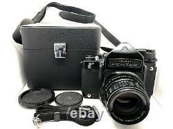 Nr MINT in CASE Pentax 6x7 67 TTL Film Camera + T 105mm f2.4 Lens from JAPAN