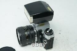 OLYMPUS OM10 SLR FILM CAMERA WITH 28-50mm zoom lens + FLASH