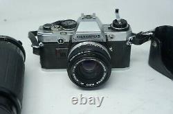 OLYMPUS OM10 SLR FILM CAMERA WITH Olympus 50mm & 100-300mm lens