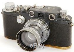ORIGINAL Leica IIIc Grey Military 391527K W. H. With Summitar f=5cm 12 Lens