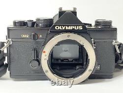 Olympus OM-2 MD 35mm Film Camera With Winder 2 Strap Zuiko 50mm Lens Japan SLR