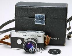 Olympus Pen-ft 35mm Half Frame Film Camera + 40mm F/1.4 Zuiko Lens, Case