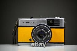 Olympus Trip 35 Film Camera with Zuiko 40mm f2.8 Lens Yellow Leather Serviced