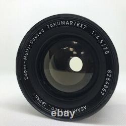 PENTAX 6x7 67 Eye Level Camera SMC Takumar F/4.5 75mm Lens /JAPAN