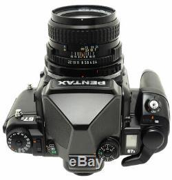 Pentax 67 II Medium Format Film Camera + 67 105mm F2.4 Lens. Strap
