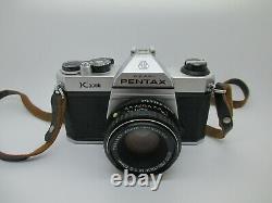 Pentax K1000 35mm SLR Film Camera with 50mm Manual Focus Lens Very Good