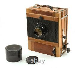 RARE FKD 13x18cm Large Format Wooden Camera with Lens & 2x Cassettes! Full Kit