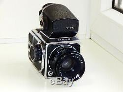 RARE SALUT-C USSR MEDIUM Format 6x6 HASSELBLAD COPY FILM camera withs Lens AS IS