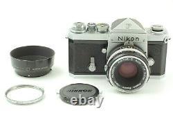 RARE S/N 6400100 Nikon F Eye Level Finder camera with 5cm Tick mark Lens JAPAN