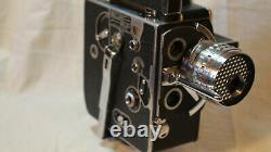 RARE VINTAGE PAILLARD BOLEX H8 H-8 H 8 MOVIE CAMERA With CASE, LENSES + MORE