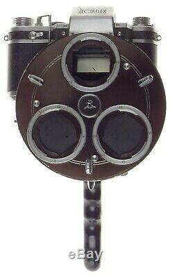 RECTAFLEX ROTOR turret vintage rare film camera 3 Angenieux Lenses 135mm, 28,50mm