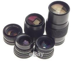 ROLLEIFLEX SL 2000 F motor 35mm film camera kit 5 lenses complete manual caps