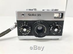 ROLLEI 35 FILM CAMERA WithZEISS TESSAR 40MM F3.5 LENS GERMANY WORKS SEE LISTING