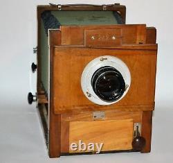RUSSIAN USSR FKD 13x18 LARGE FORMAT CAMERA + INDUSTAR-51 lens, f4.5/210