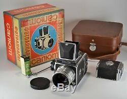 RUSSIAN USSR SALUT MEDIUM FORMAT CAMERA + INDUSTAR-29, f2.8/80 LENS, BOXED