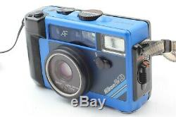 Read! Nikon L35 AW AD Water Proof Blue 35mm Film Camera F/2.8 Lens from Japan