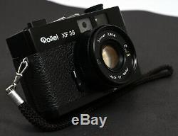 Rollei XF 35 Compact Film Camera + Sonnar 40mm f/2.3 Lens Kit, Straps, Case &Box