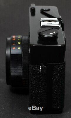 Rollei XF 35 Compact Film Camera + Sonnar 40mm f/2.3 Lens, Straps, Case & Flash