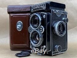 Rolleiflex 3.5E 6x6 TLR 120 Film Camera withXenotar 75mm Lens, Caps & Leather Case