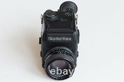 Rolleiflex SL 2000F Motor with Rollei HFT Planar 50mm f1.8 lens, handgrip, charger