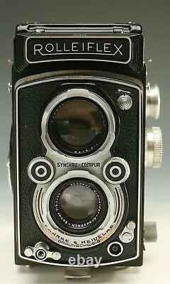 Rolleiflex Twin Lens Reflex Camera Tlr Rollei 120 Film 3.5 Lens Beauty! Nr