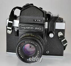 Russian Ussr Kiev-60 Ttl Medium Format Camera + MC Volna-3 Lens, Boxed Set (2)