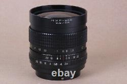 Russian lens MIR 38B 38 3,5/65 to camera Kiev-60 6C Pentacon Six mount