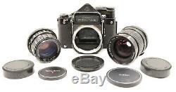 Serviced Pentax 6x7 MLU Medium Format Film Camera with 2 Lenses & Metering Prism