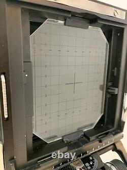 Sinar F1 4x5 Large Format Film Camera Body, Lens Board, and Two 4x5 Film Holders