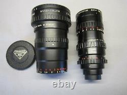 Super-16 Angenieux Zoom 20-80mm C-mount Lens + Attachment Bmpcc Movie Camera