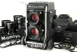 TOP MINT+++ SET! MAMIYA C220 F TLR Film Camera SEKOR S 80mm F/2.8 Lens more