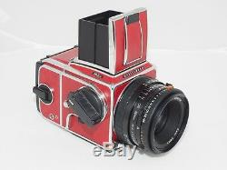 Unique Red Hasselblad 503cw camera kit with80mm f/2.8 Planar lens & A-12 film back