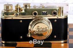 Vintage Film Leica camera D. R. P Lens Elmar f3.5/50mm GOLD FED Zorki Copy