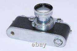 Vintage WARTIME Leica IIIC Rangefinder 35mm camera with 5cm f2 Summitar lens