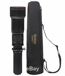 Vivitar 650-1300mm f/8-16 Telephoto Lens for Nikon SLR camera D3100 D3000 D7500