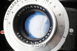Voigtlander Bessa I 6x9 120 Film Camera with Vaskar 105mm f/4.5 Lens