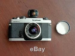 Voigtlander Bessa L with 15mm aspherical super wide Heliar lens and viewfinder