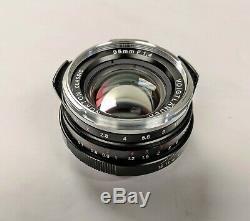 Voigtlander Nokton Classic 35mm f/1.4 MC VM Leica M Mount Camera Lens JAPAN