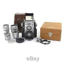 Zeiss Ikon Contaflex Tlr Complete With 35mm / 50mm / 85mm Lenses Very Rare #1087