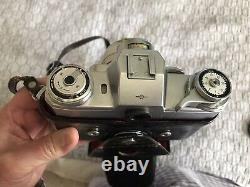 Zeiss Ikon Contarex 35mm SLR Film Camera Planar 12 50 mm Lens and Case