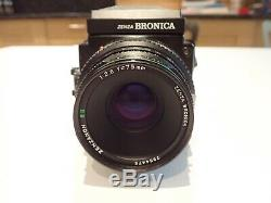 Zenza Bronica ETRSi 6x4.5 Medium Format Camera + 75mm lens + 120 Roll Film Back