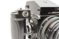 Zenza Bronica Film Camera with 75mm Lens AE Finder From JAPAN Vintage