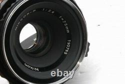 Zenza Bronica S2 Camera Nikkor P 75mm f 2.8 f/2.8 Lens, Grip 119721