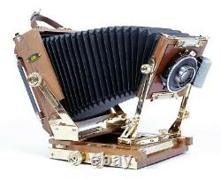 Zone VI Gold Plated 4X5 Camera with 90mm + 150mm Lenses + Holders + film #10